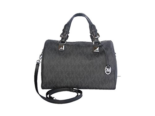 Michael Kors Grayson Large PVC Satchel – Black