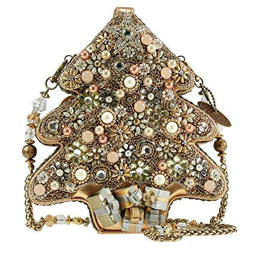 Mary Frances All Aglow Gold Tree Christmas Holiday Handbag