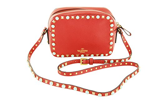 Valentino Garavani Womens Shoulder Bag – Red Leather