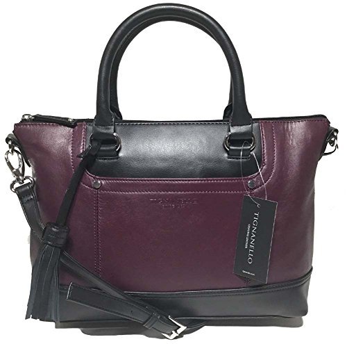 Tignanello Smooth Operator Convertible Satchel, Chianti/Black, T68705AT