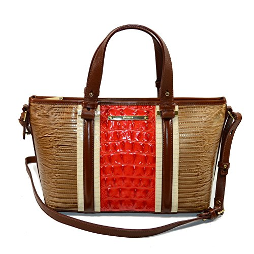Brahmin Mini Asher Cabana Vertical Vineyard satchel Xbody