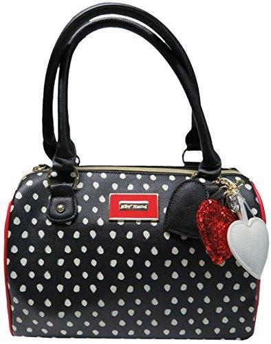 Betsey Johnson Purse Handbag Spot Satchel Black