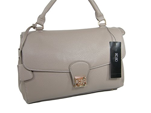 New BCBG Paris Purse Satchel Crossbody Hand Bag Taupe Beige Tan Tote
