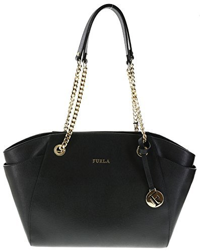 Furla JULIA Saffiano Leather Shoulder Hand Bag (Onyx)