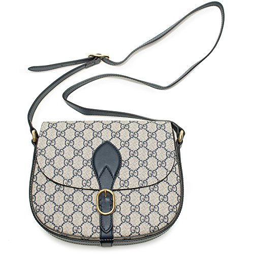Gucci GG Supreme shoulder bag beige navy blue cross body bag new
