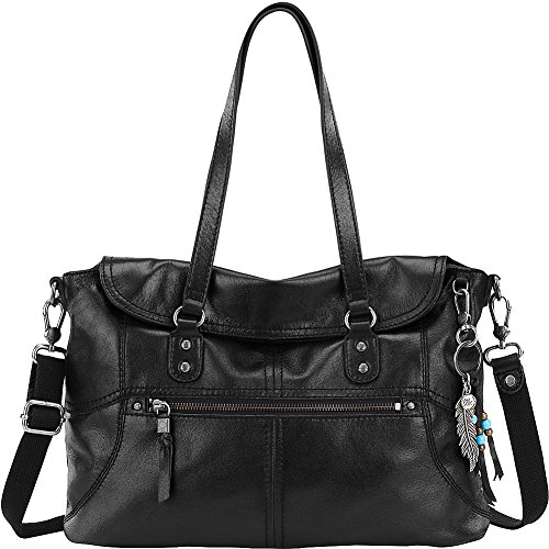 The Sak Esperato Flap Satchel (Black)