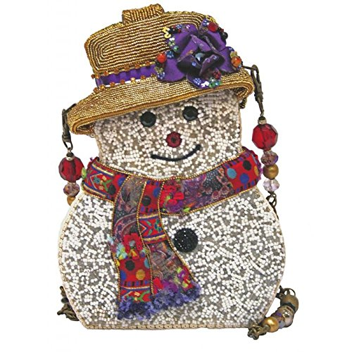 Mary Frances Handbag Snow Belle Holiday Winter Snowman Beaded Jeweled Shoulder Bag