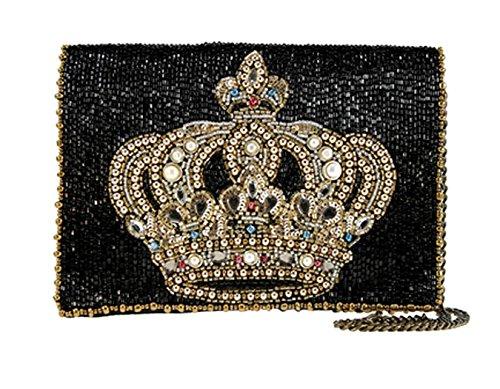 Mary Frances Royal Crown Mini S984 Hand Beaded Handbag Clutch