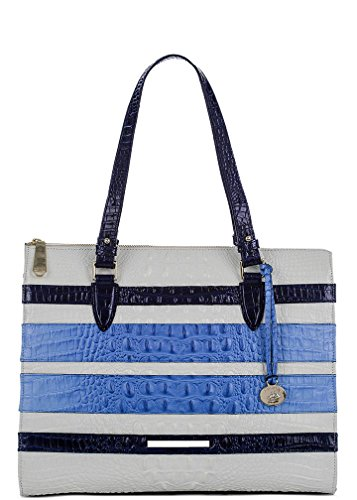 NEW AUTHENTIC BRAHMIN ANYWHERE SHOULDER TOTE (Tri Color Regatta Vineyard)