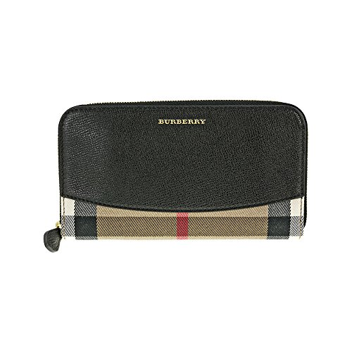 Burberry House Check Sartorial Leather Wallet – Black