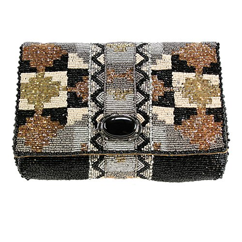 Mary Frances Totem Metallic Clutch