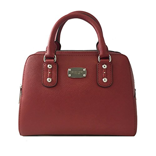 MICHAEL MICHAEL KORS SAFFIANO LEATHER LARGE SATCHEL BAG IN CHERRY 35S3SSAS3L CHERRY