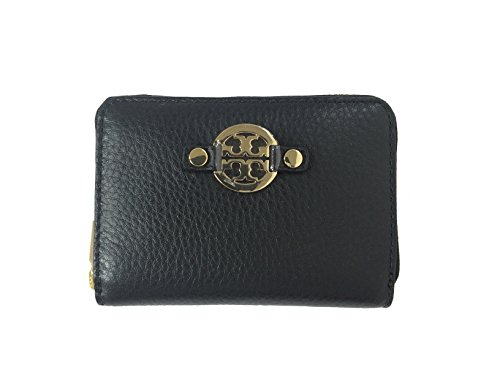 Tory Burch 50009090 Amanda Pebbled Leather Zip Coin Case Black