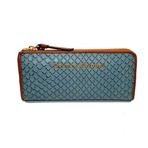 Dooney and Bourke Claremont Emb Leather Zip Clutch TP155 DN