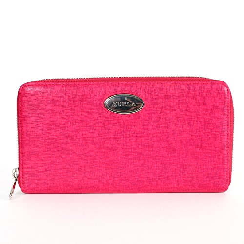 Furla May Classic Saffiano Zip Around Wallet 030 Gloss Pink