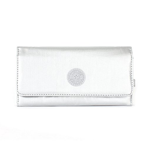 Kipling New Teddi Large Wallet, Platinum Metallic, One Size