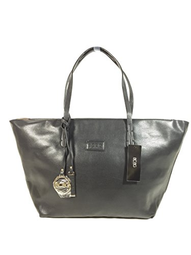Bcbg Paris Convertible with Zipper Tote with one extra crossbody Black