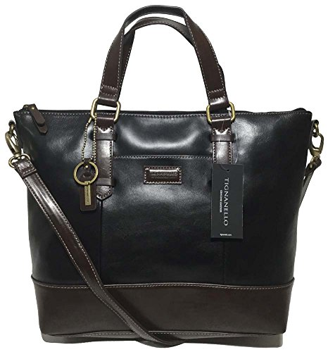 Tignanello Borough Convertible Tote, Black/Dark Brown, T59610A