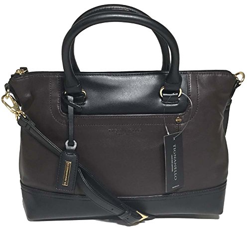Tignanello Smooth Operator Convertible Satchel, Dark Brown/Black T68705