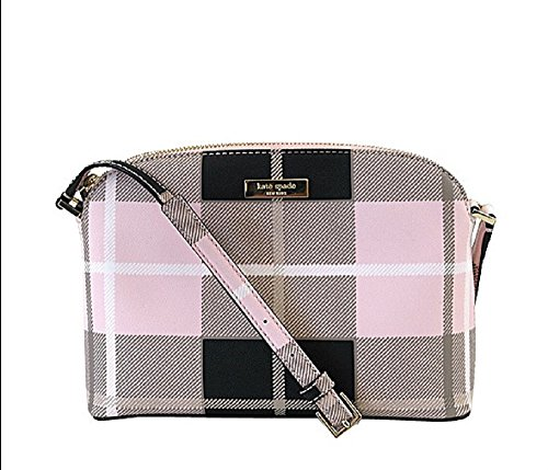 Kate Spade New York Printed Hanna Crossbody Shoulder Bag Pink Plaid