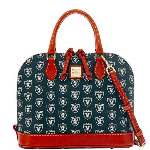 Dooney and Bourke Oakland Raiders Zip Zip Satchel Handbag