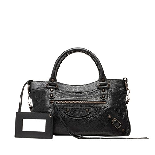 Balenciaga Classic First Satchel Handbag-black 103208
