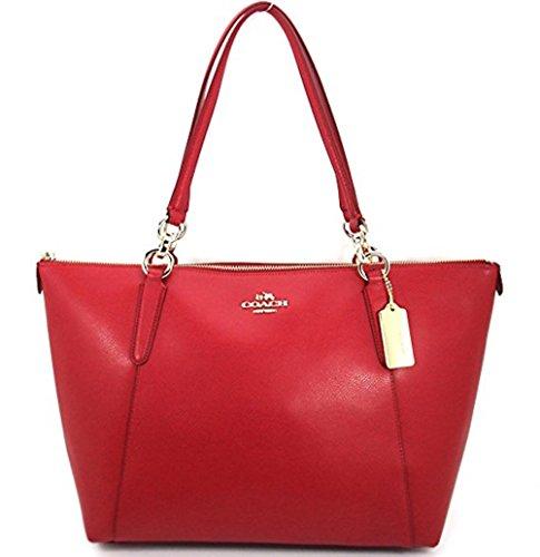 Coach Ava Tote True Red Coach AVA Leather Shopper Tote Bag Handbag