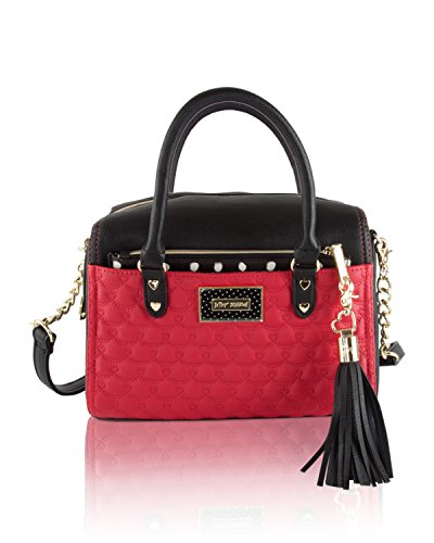 Betsey Johnson Barrel Satchel Handbag(2 Piece) – Red