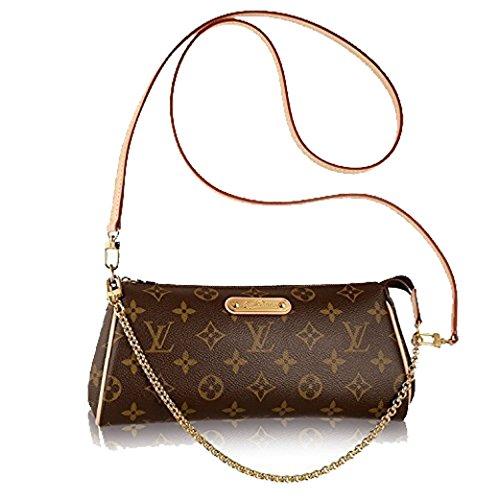 LV Brown Canvas Eva Clutch Handbag
