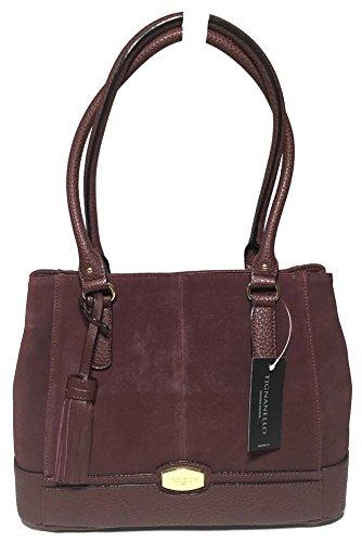 Tignanello Roebling Shopper, Leather/Suede Raisin, T59007A
