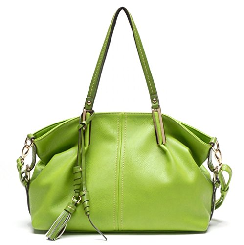 Tosca USA, Signature Drapey Hobo Tote w/ Charms & Strap- Olive