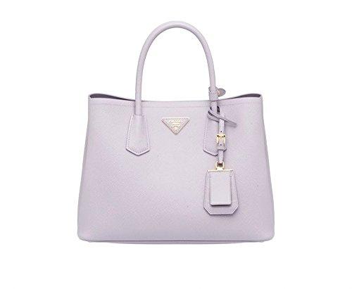 Prada Saffiano Leather Tote Handbag Glicine