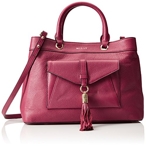 MILLY Astor Tote Burgandy, Burgundy