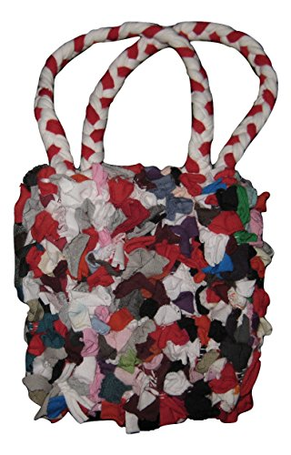 Marc Jacobs Mini Egyptian Red and White Handle Tote Bag Purse 6.5″ x 6″ Multi-Colored Cotton Material