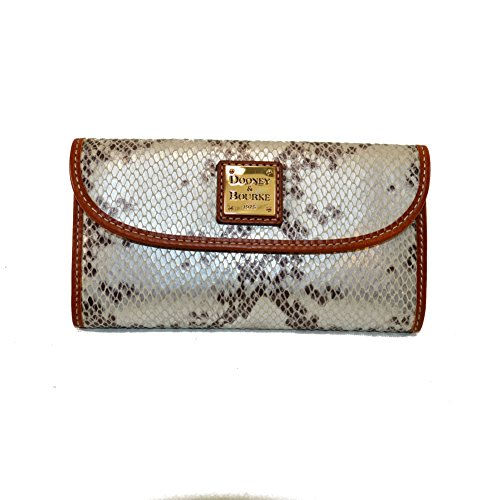 Dooney & Bourke Python Embossed Continental Clutch Wallet