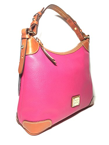 Dooney & Bourke Leather Hobo Sholder Bag Strawberry/brown