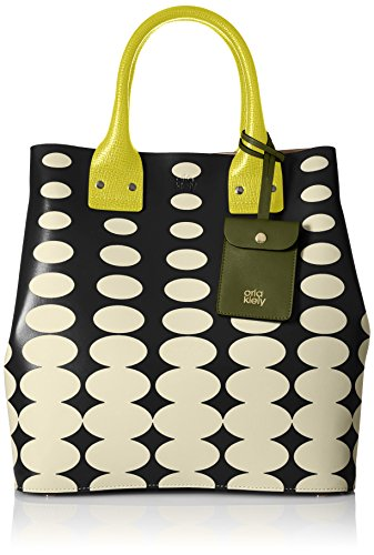 Orla Kiely Oval Printed Leather Willow Top-Handle Bag