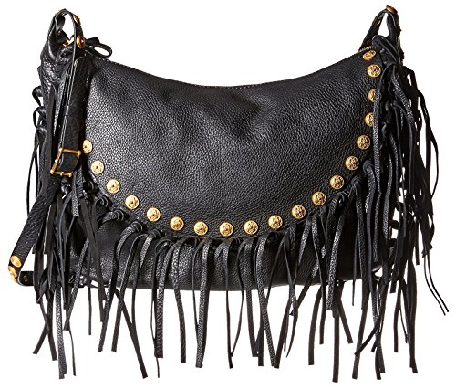 Valentino Women's Fringed Shoulder Bag, Black