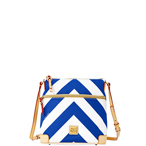 Dooney & Bourke Medium Chevron Crossbody – Navy/White