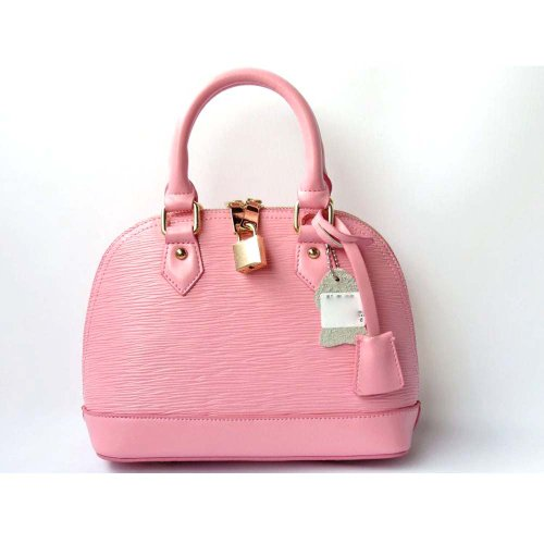 Piggy2gether – Water Ripples Cowhide Genuine Leather Women Handbag (Pink)