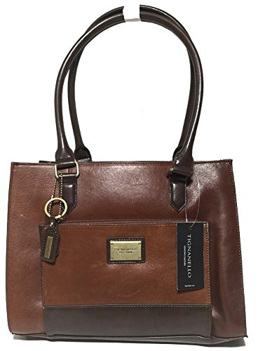 Tignanello To The Point Shopper Rust/Dark Brown T57025A
