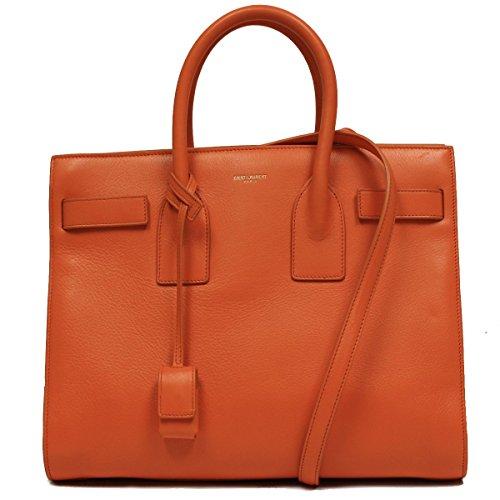 Saint Laurent Classic Small Sac De Jour Orange Leather Satchel Bag 324823