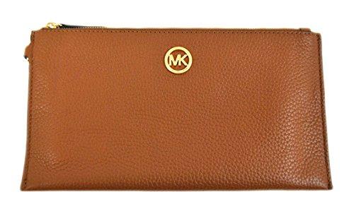 Michael Kors Fulton Large Zip Clutch Wallet Wristlet Acorn