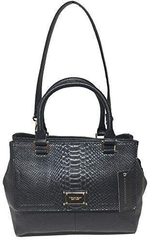 Tignanello Gracious Style Triple Entry Satchel, EMB Black, 68632033