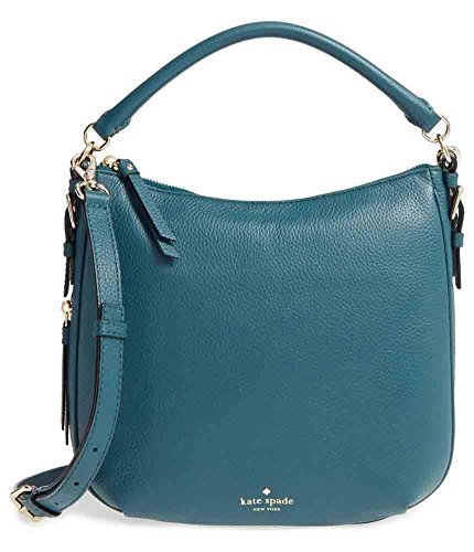 Kate Spade New York Cobble Hill Small Ella Leather Shoulder Bag, Green