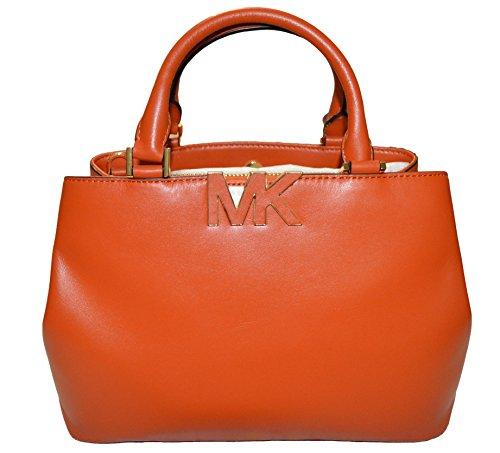 Michael Kors Florence Burnt Orange Medium Satchel Leather Handbag