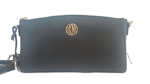 DKNY Bryant Park Saffiano leather Black Crossbody bag Large Clutch