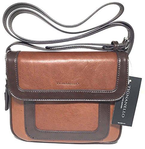 Tignanello Vintage Item Cross Body Rust/Dark Brown T57010A