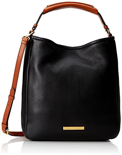 Marc by Marc Jacobs Softy Leather Saddle Hobo Shoulder Bag, Black