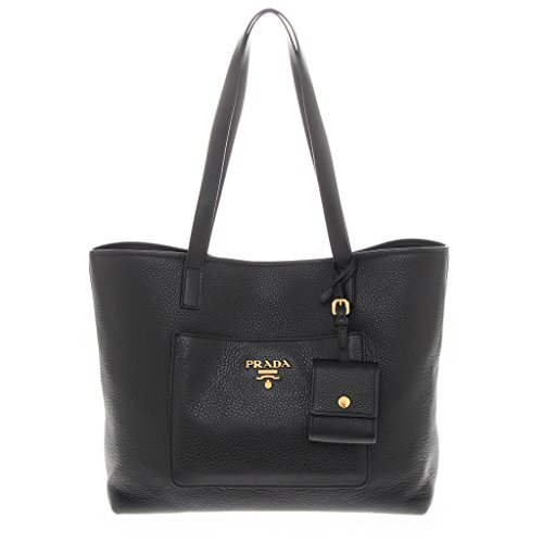 Prada Women's Calf Tote Black